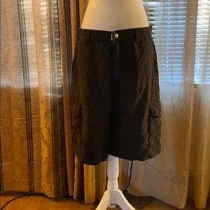 QuickSilver Black with Gray lining Cargo Shorts